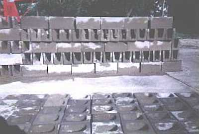 Prefab cement blocks